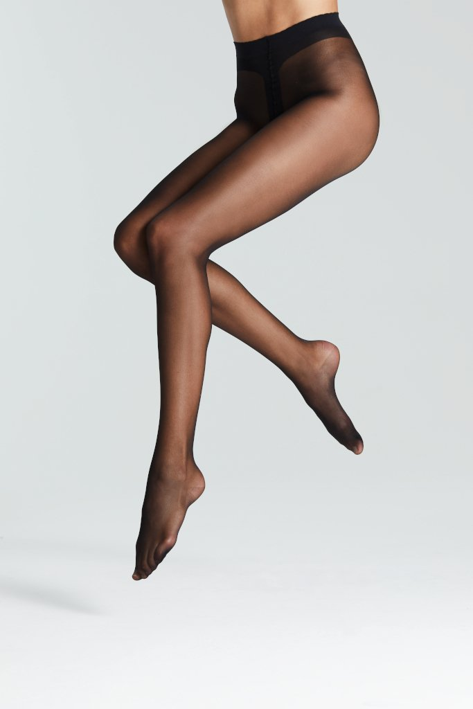 fogal tights all nude black